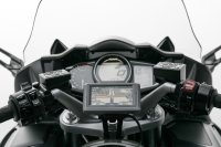 Navi-Halter am Lenker Schwarz. Yamaha FJR 1300 (04-).