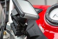 Navi-Halter am Lenker Schwarz. Ducati Multistrada 1200 /...